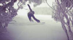 Lauren Staveley making slash turns at Mt Buller this week