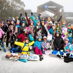 Chicks with Stix at Mt Buller